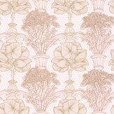 Laurence Llewelyn-Bowen Copacabana Gold / Blush Pink Wallpaper - Product code: LLB6020