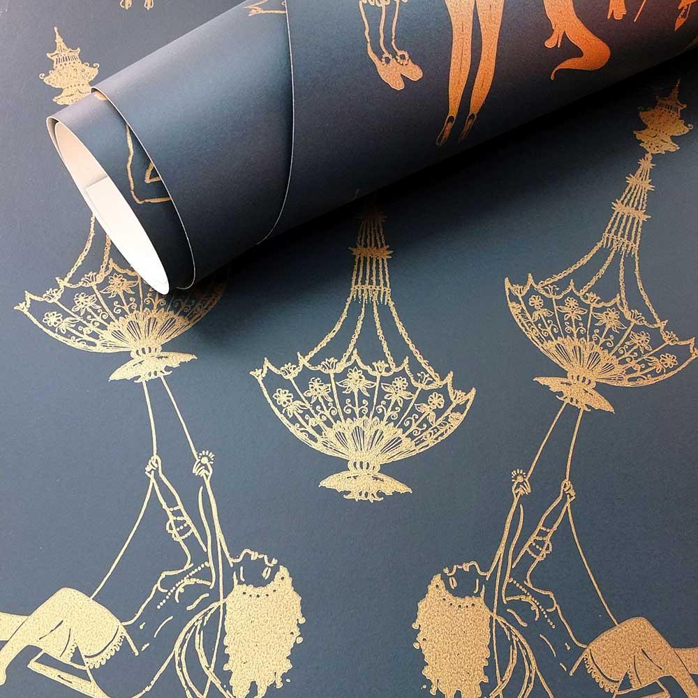 Louise Body Erotica Black / Gold Wallpaper - Product code: Erotica B/G