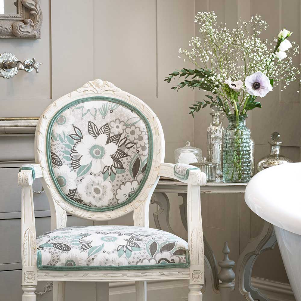 Blendworth Jungle Gardenia Grace Fabric - Product code: BAZJUN1906