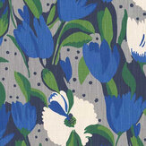 Blendworth Tulip Reign Blue Moon Fabric - Product code: BAZTUL1919