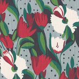 Blendworth Tulip Reign Persephone Fabric - Product code: BAZTUL1920
