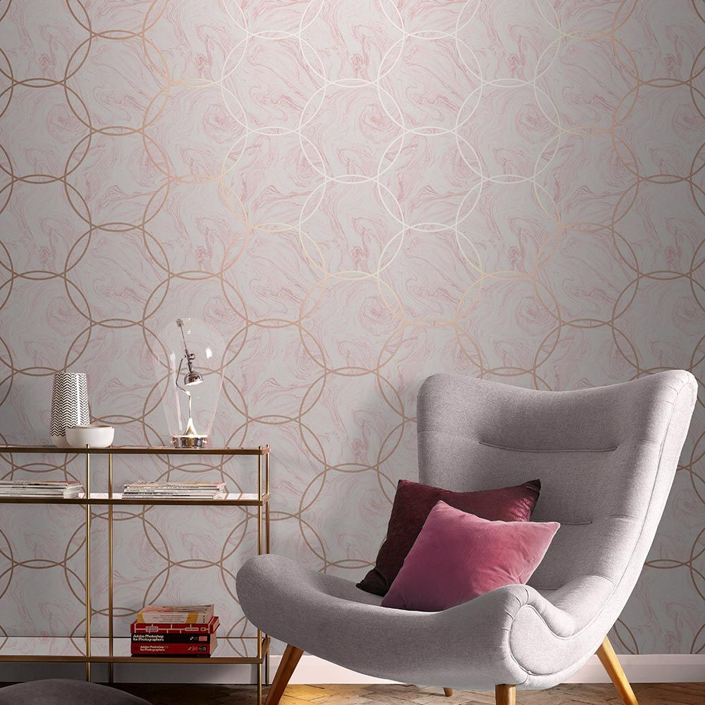 Aqueous Wallpaper - Geo Quartz - by Graham & Brown