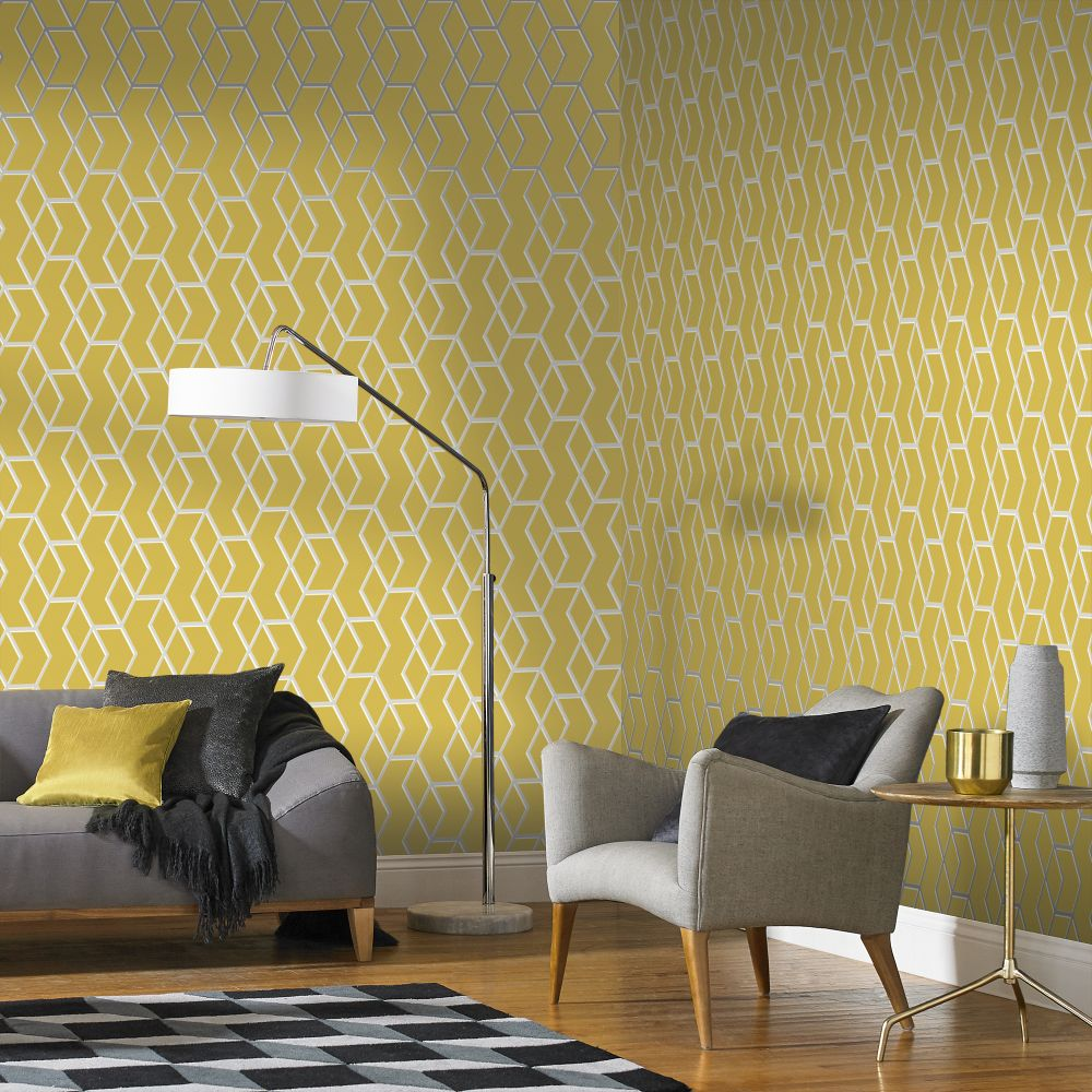 Graham & Brown Archetype Yellow Wallpaper - Product code: 104731