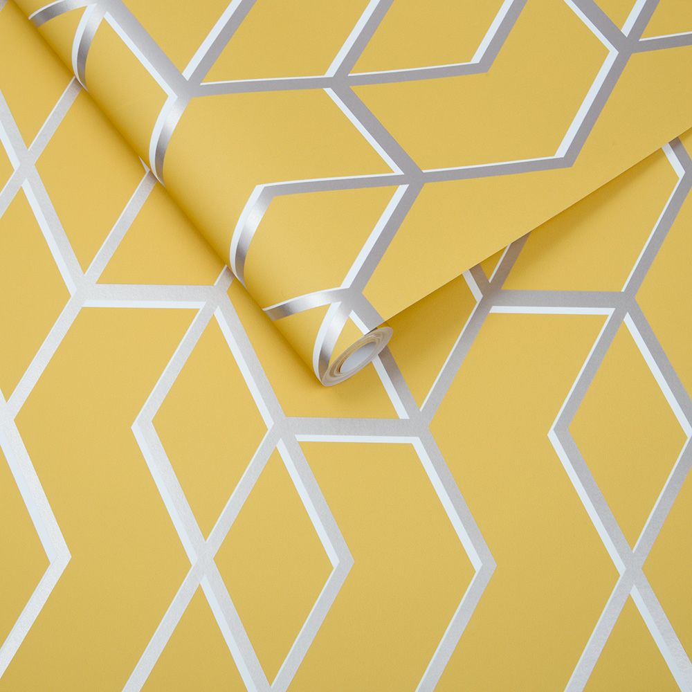 Archetype Wallpaper - Yellow - by Graham & Brown
