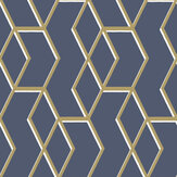 Graham & Brown Archetype Navy / Gold Wallpaper - Product code: 104735