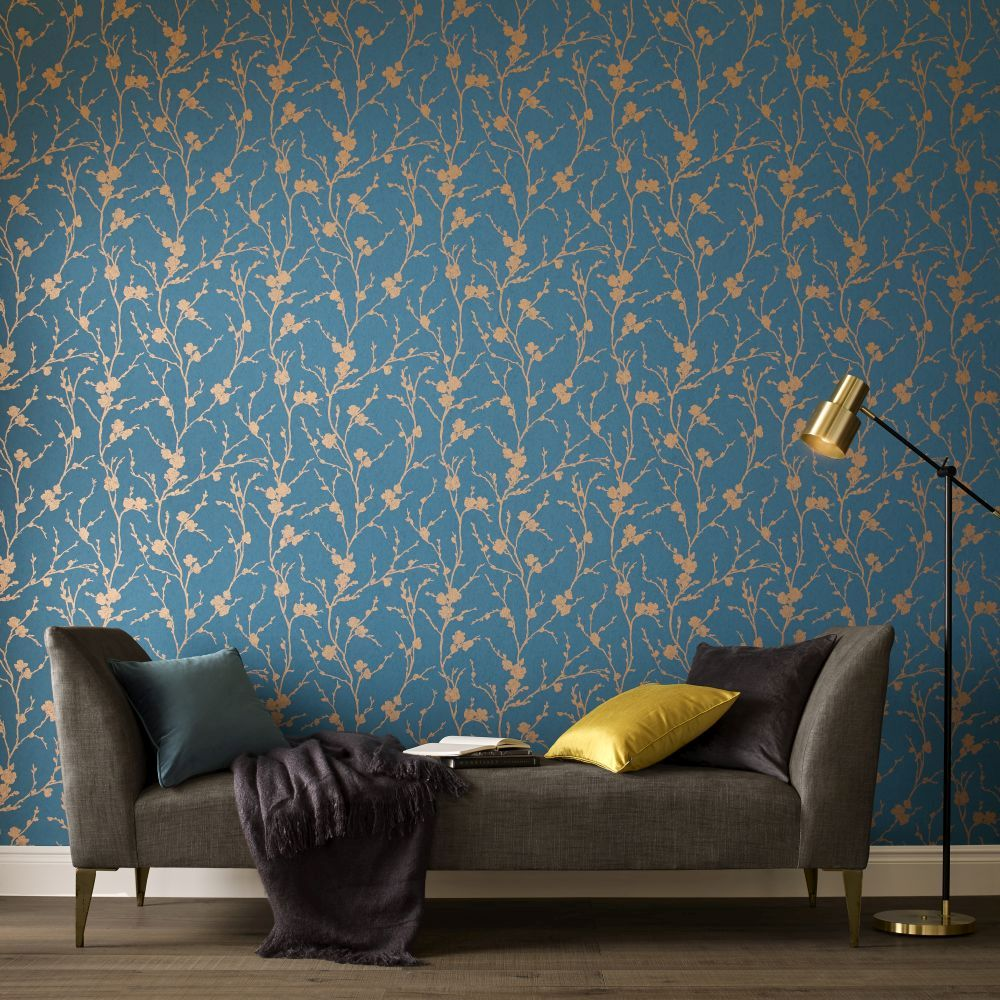 Graham & Brown Meiying Teal Wallpaper - Product code: 103522