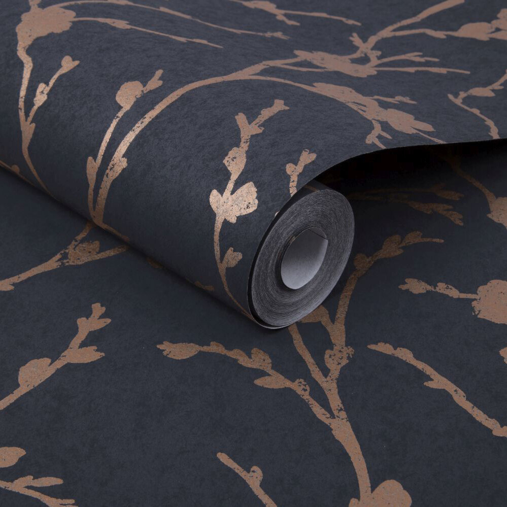 Graham & Brown Meiying Charcoal Wallpaper - Product code: 103524