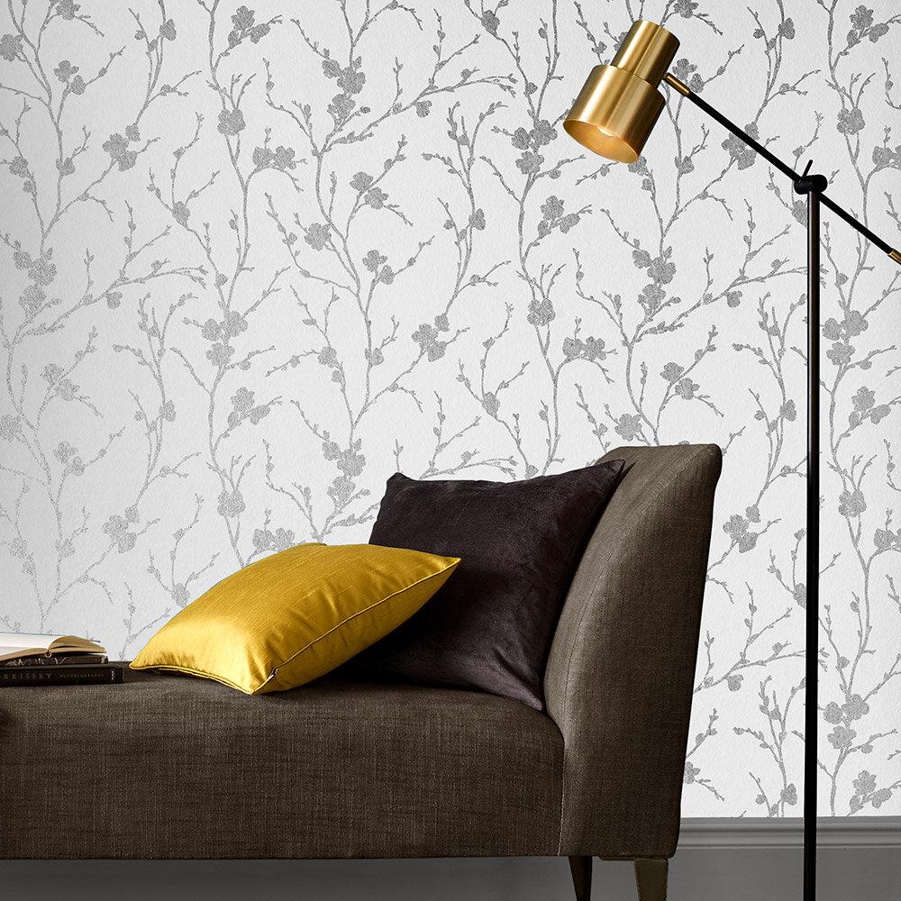 Meiying Wallpaper - Chalk - by Graham & Brown
