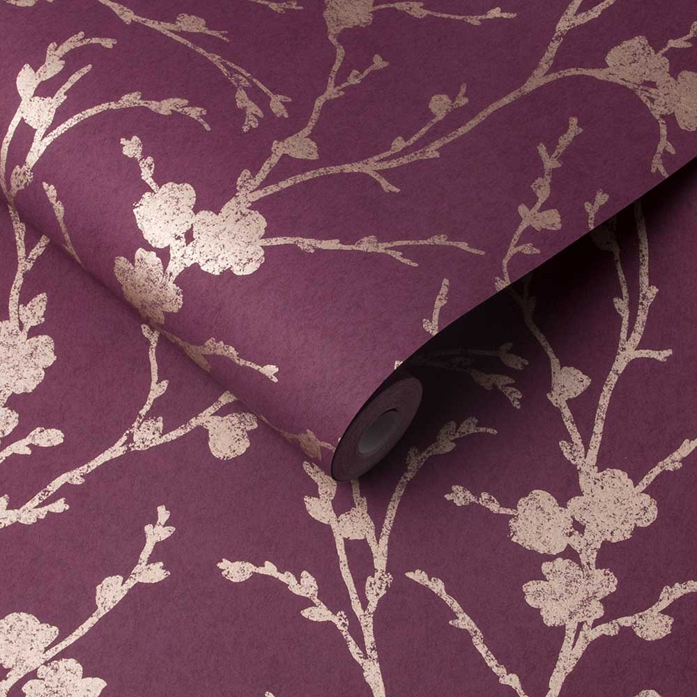 Graham & Brown Meiying Mauve Wallpaper - Product code: 105918
