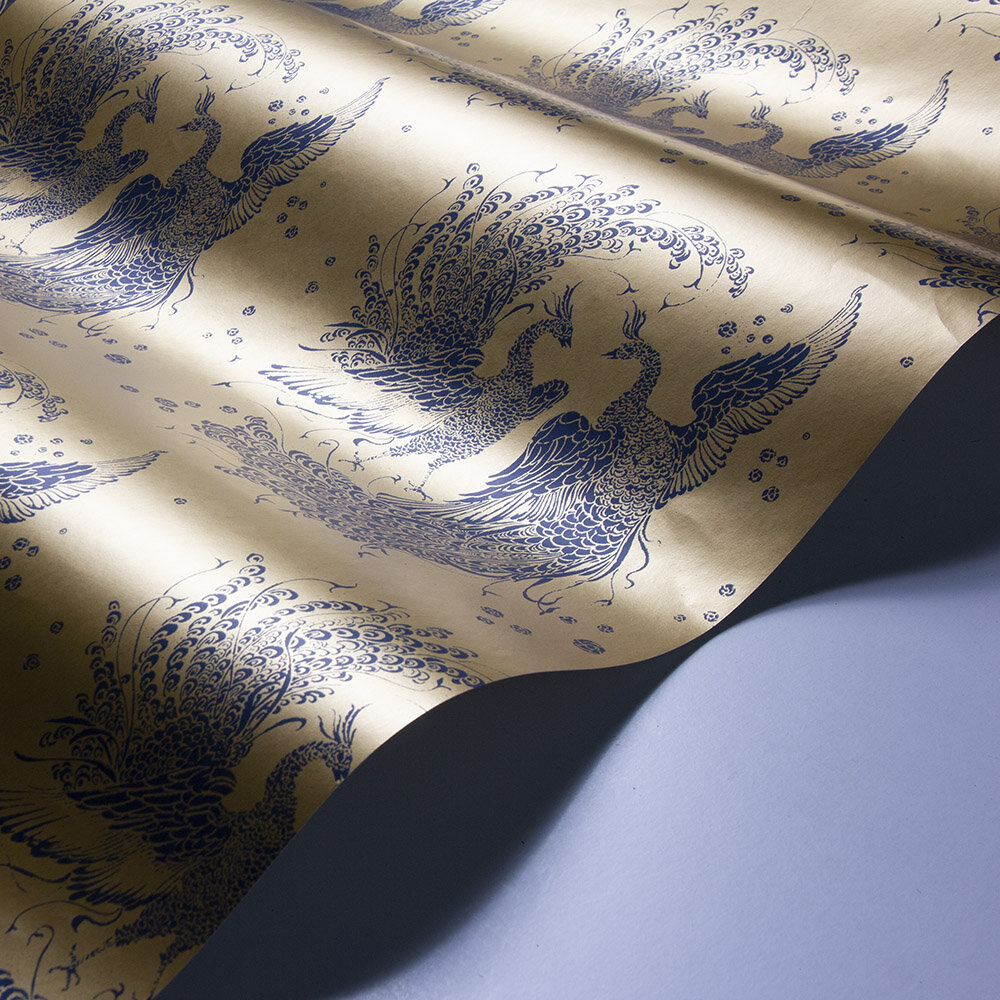 Laurence Llewelyn-Bowen The Boys are Back in Town Copper / Blue Wallpaper - Product code: LLB6021