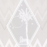 Laurence Llewelyn-Bowen Tropicalia Grey Wallpaper - Product code: LLB6037