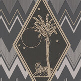 Laurence Llewelyn-Bowen Tropicalia Black / Silver Wallpaper - Product code: LLB6039