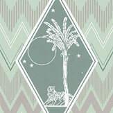Laurence Llewelyn-Bowen Tropicalia Mint Green Wallpaper - Product code: LLB6040