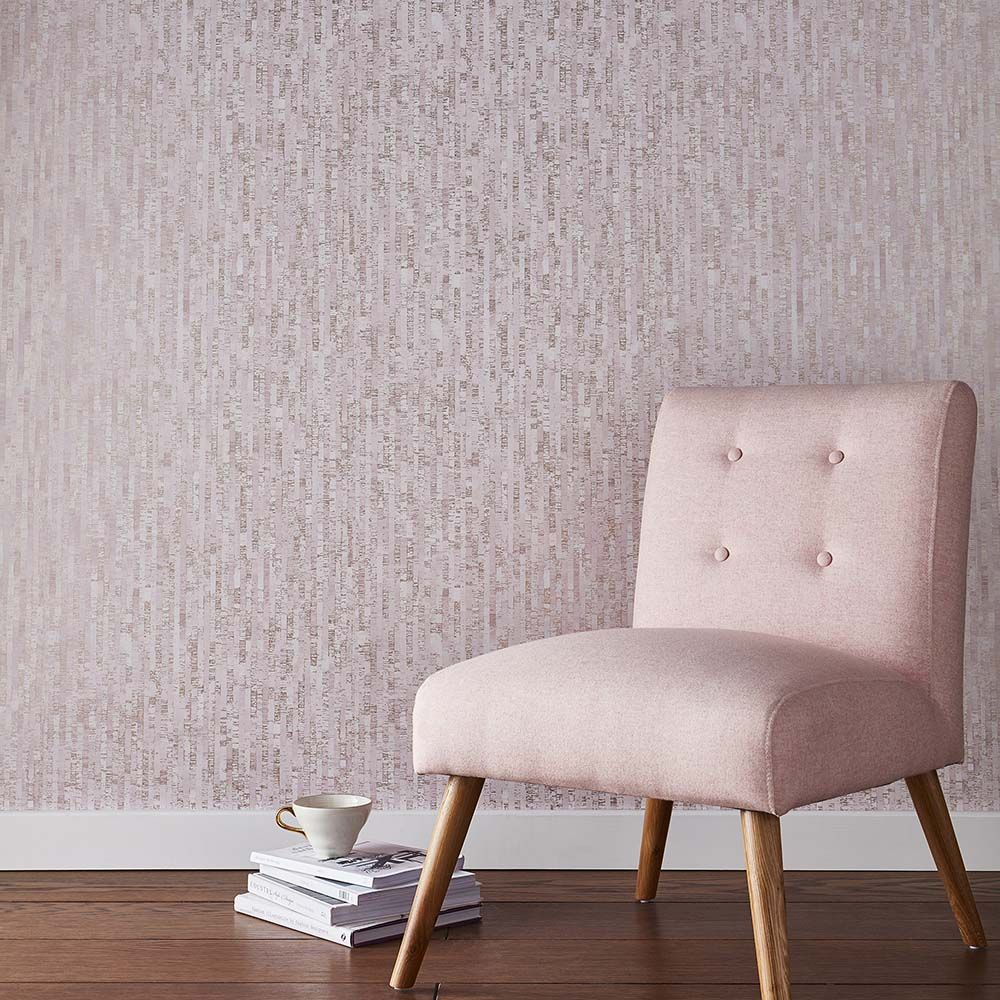 Graham & Brown Betula Blush / Rose Gold Wallpaper - Product code: 105107