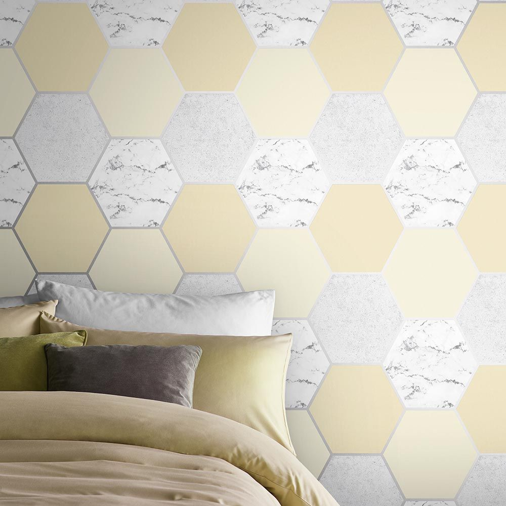 Graham & Brown Earthen Yellow Wallpaper - Product code: 106346
