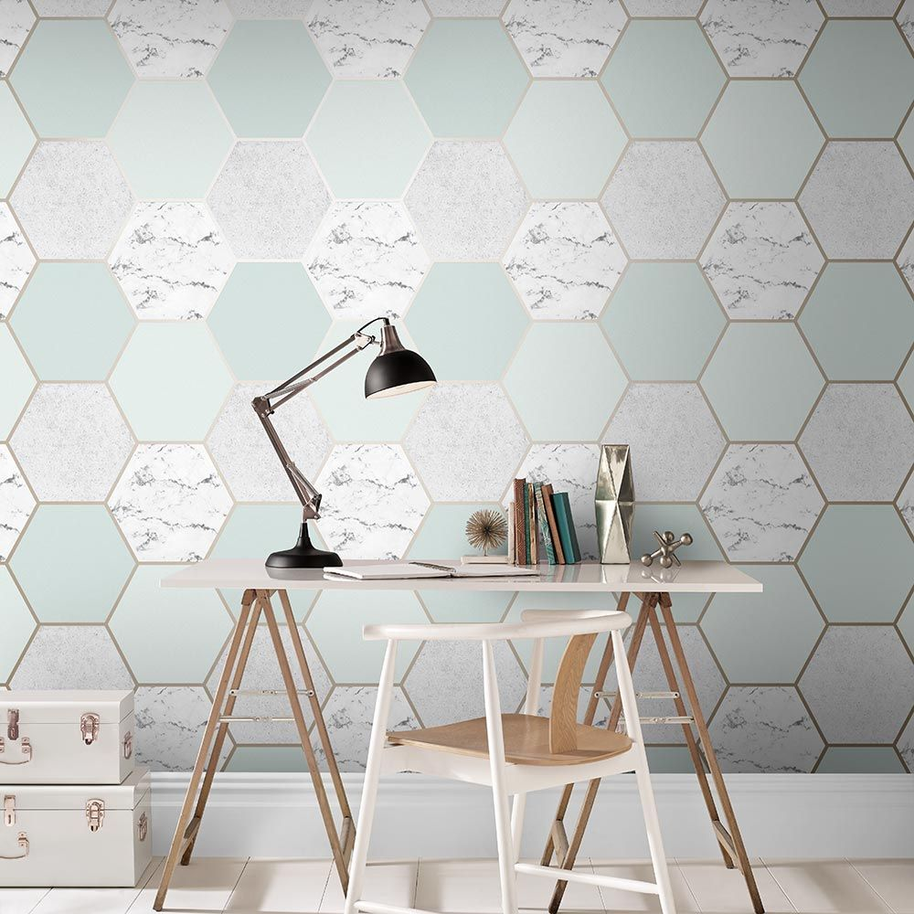 Graham & Brown Earthen Mint Wallpaper - Product code: 106348