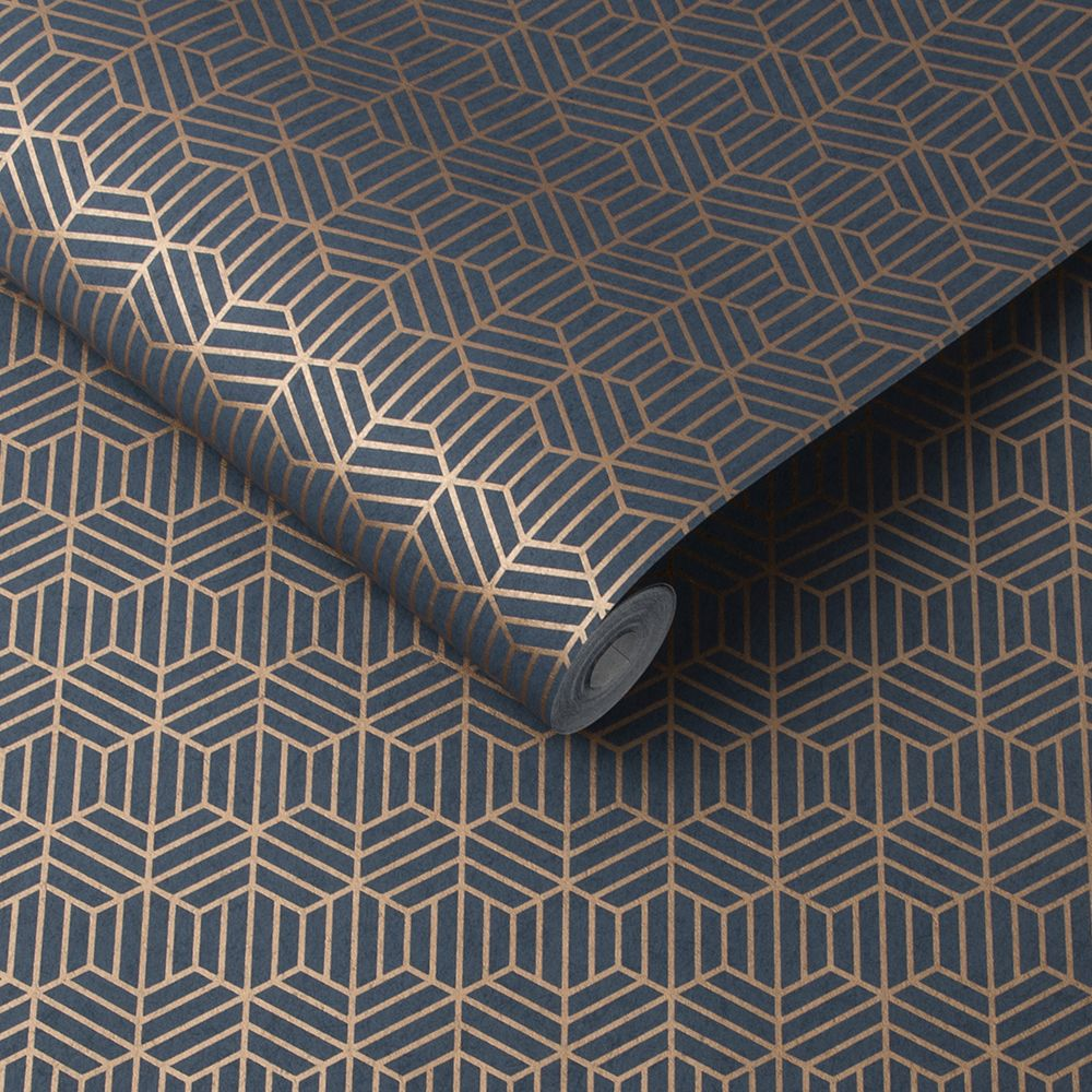 Echo Wallpaper - Cobalt - by Graham & Brown