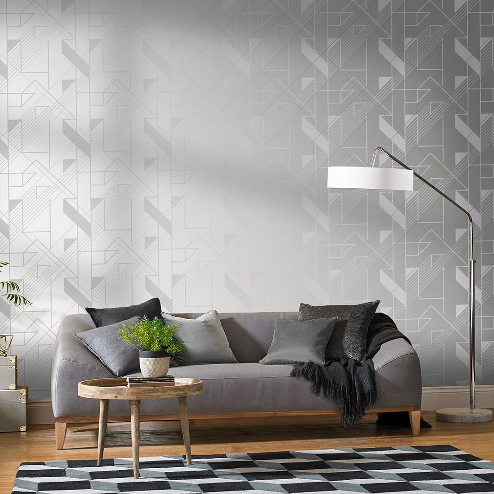 Graphic Wallpaper - Reflect - by Graham & Brown