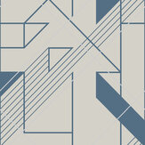 Graham & Brown Graphic Cobalt Wallpaper - Product code: 105246