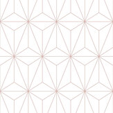 Graham & Brown Prism White / Rose Gold Wallpaper - Product code: 104737