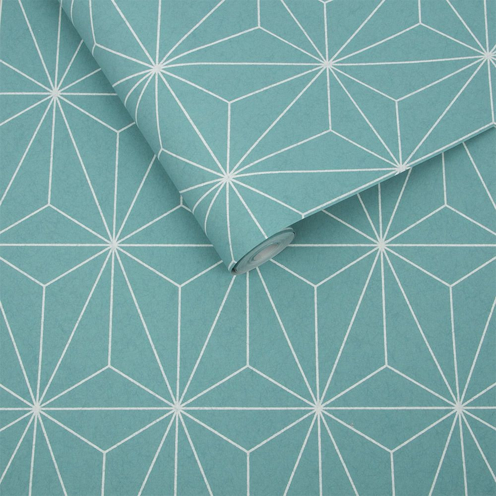 Prism Wallpaper - Mint - by Graham & Brown