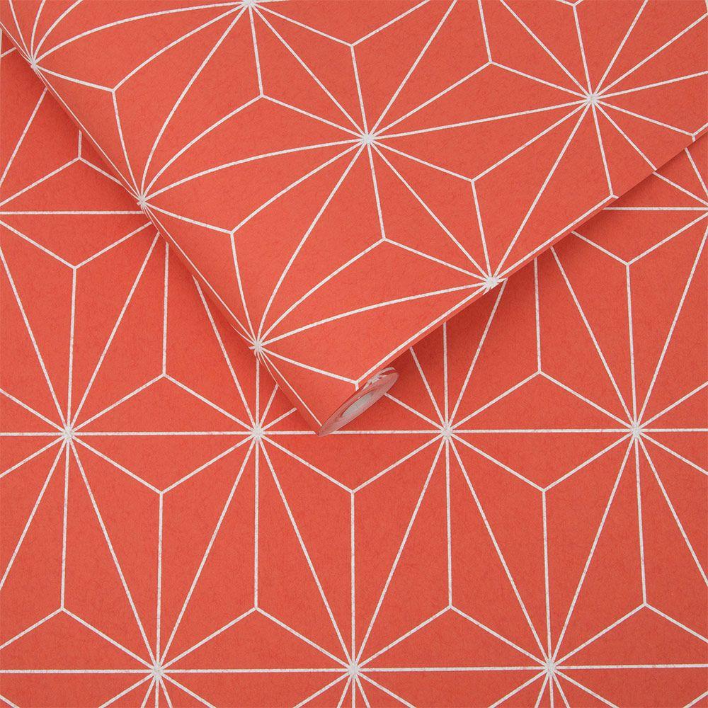 Graham & Brown Prism Orange Wallpaper - Product code: 104739