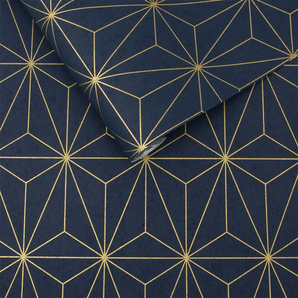 Graham & Brown Prism Navy Wallpaper - Product code: 104742
