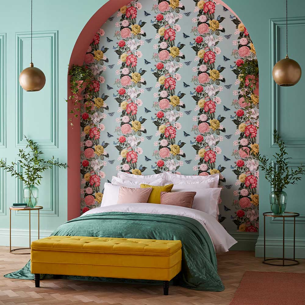 Graham & Brown Bloomsbury Neo Mint Wallpaper - Product code: 107747