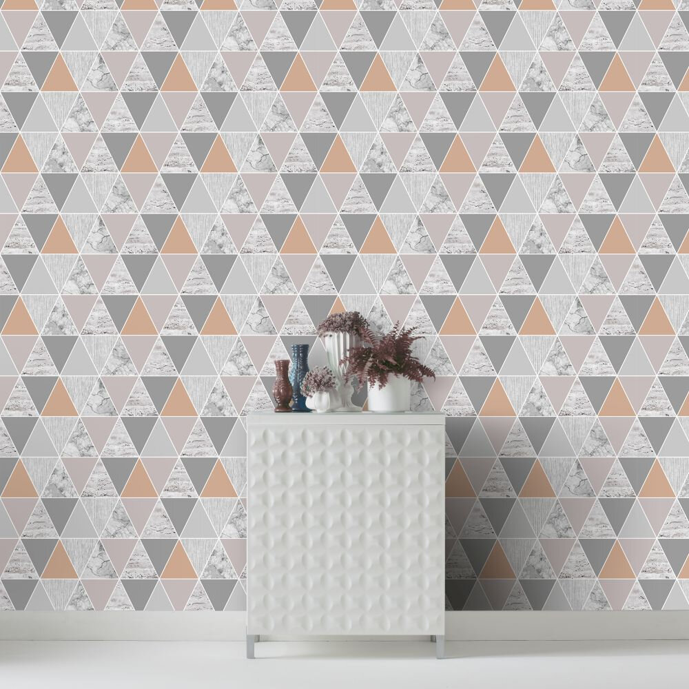 Reflections Wallpaper - Copper - by Graham & Brown