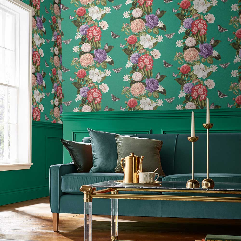 Graham & Brown Bloomsbury Teal Wallpaper - Product code: 107886