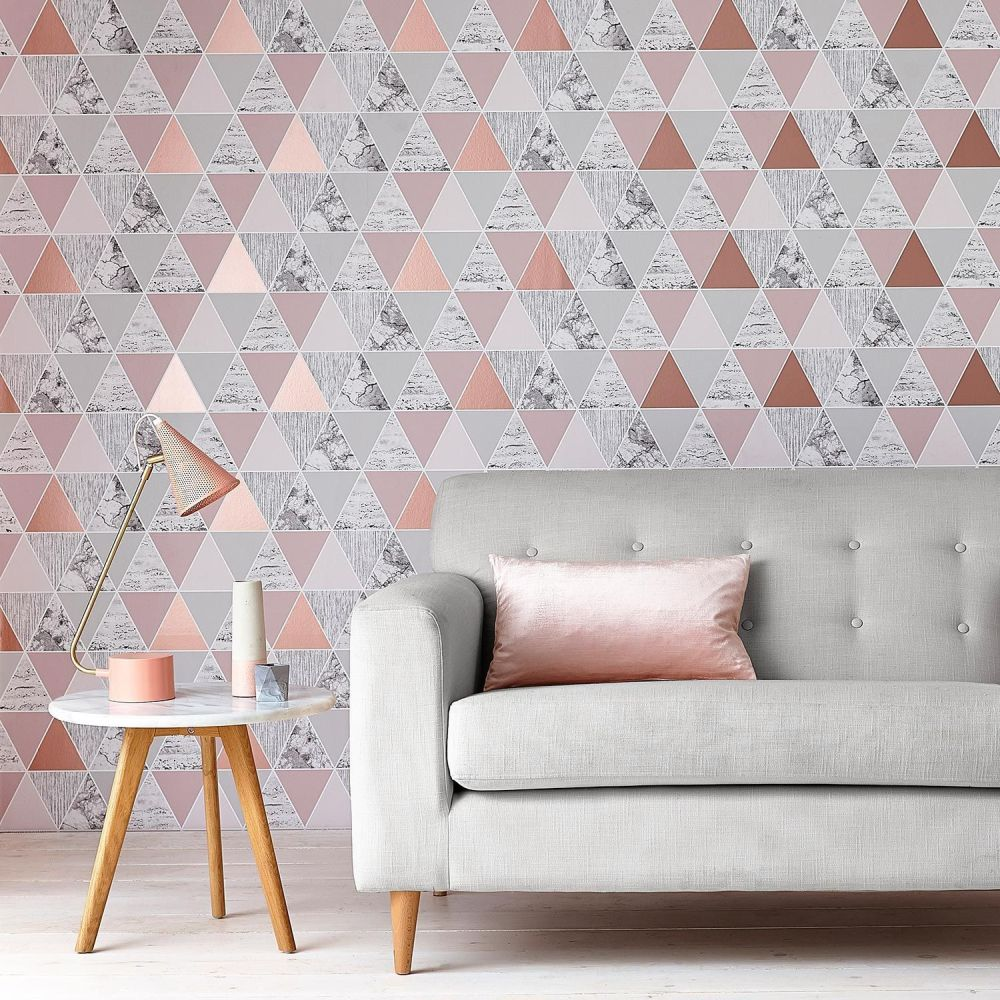 Graham & Brown Reflections Rose Gold Wallpaper - Product code: 103290