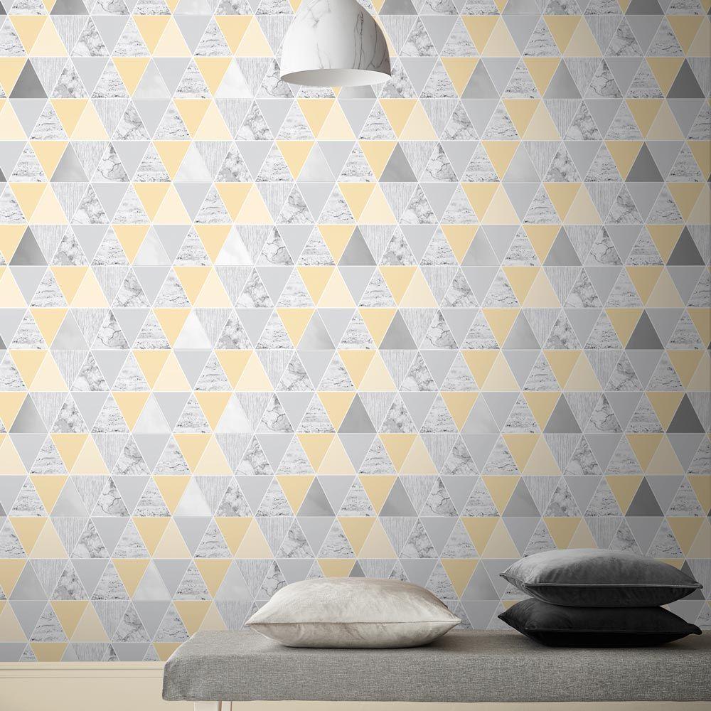 Graham & Brown Reflections Lemon Wallpaper - Product code: 105907