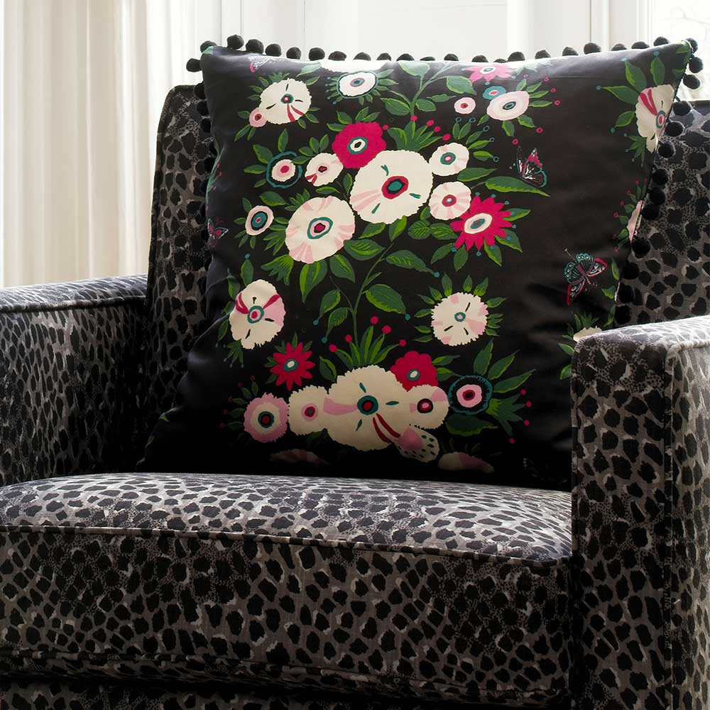Blendworth Bella Ebony Fabric - Product code: BAZBEL1903