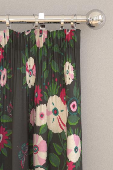 Blendworth Bella Ebony Curtains - Product code: BAZBEL1903