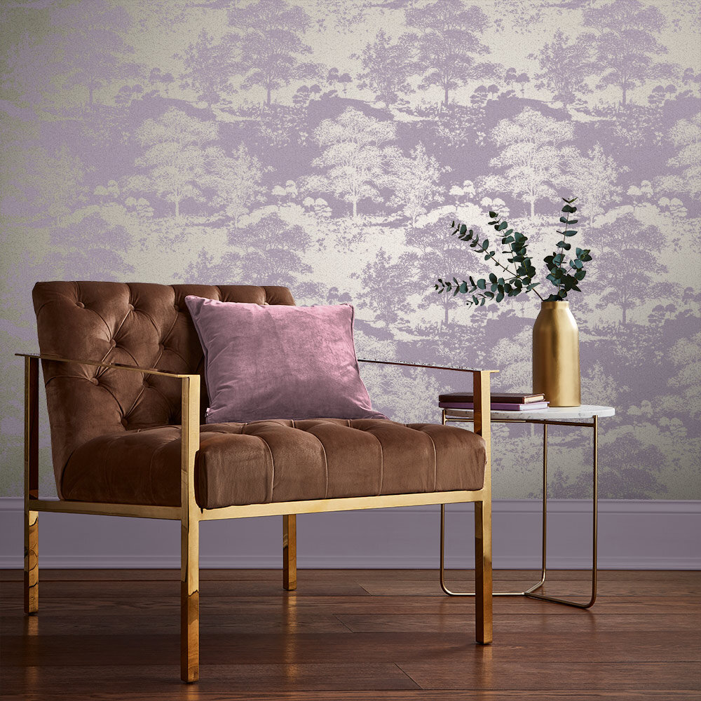 Meadow Wallpaper - Bluebell - by Graham & Brown