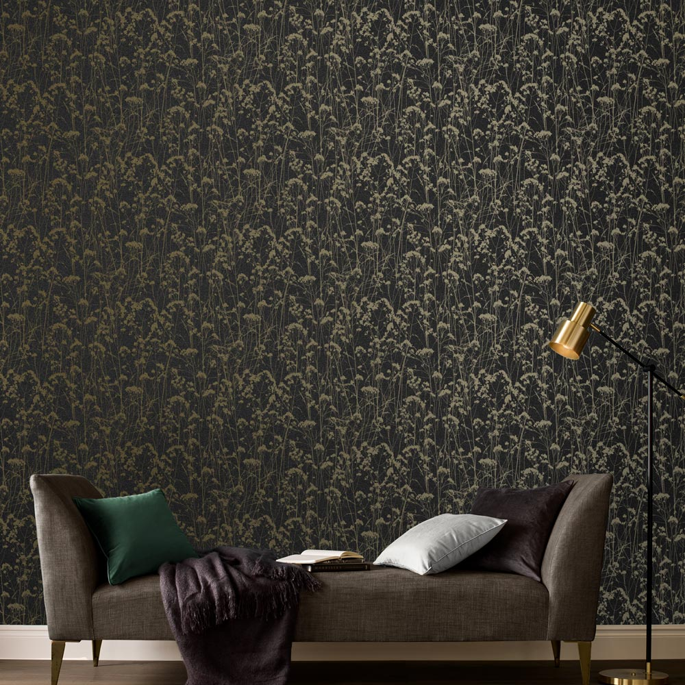 Graham & Brown Grace Deep Night Wallpaper - Product code: 105461