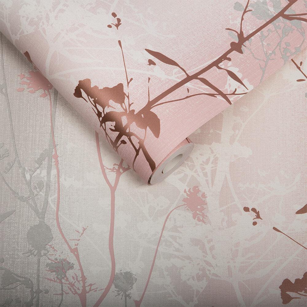 Wildflower Wallpaper - Blush - by Graham & Brown