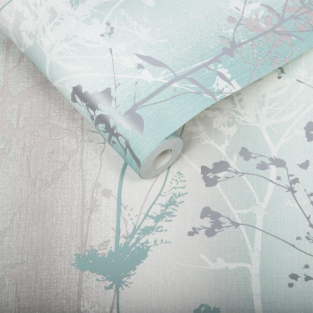 Wildflower Wallpaper - Mint - by Graham & Brown