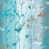 Graham & Brown Wildflower Teal Wallpaper - Product code: 105894