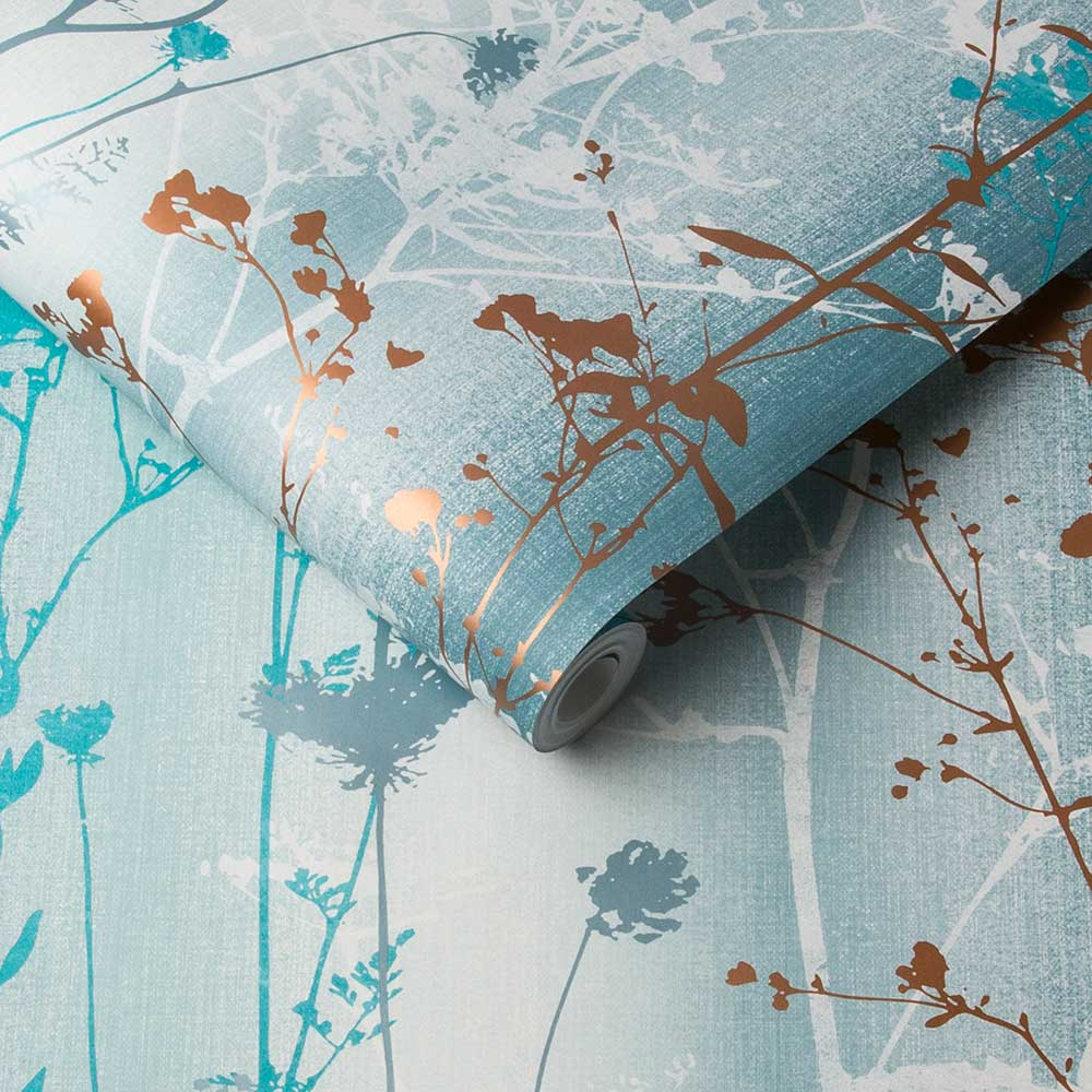 Graham & Brown Wildflower Teal Wallpaper - Product code: 105894