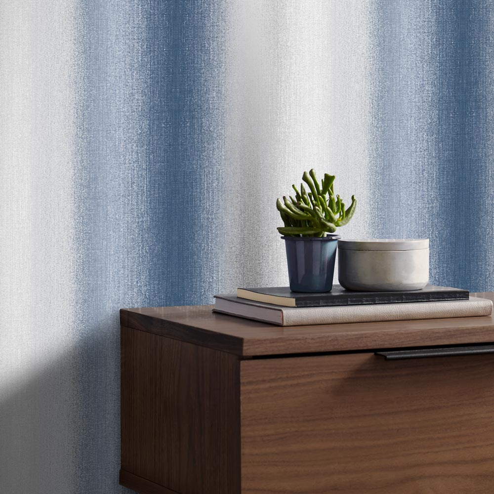 Graham & Brown Wildflower Stripe Ink Wallpaper - Product code: 105900