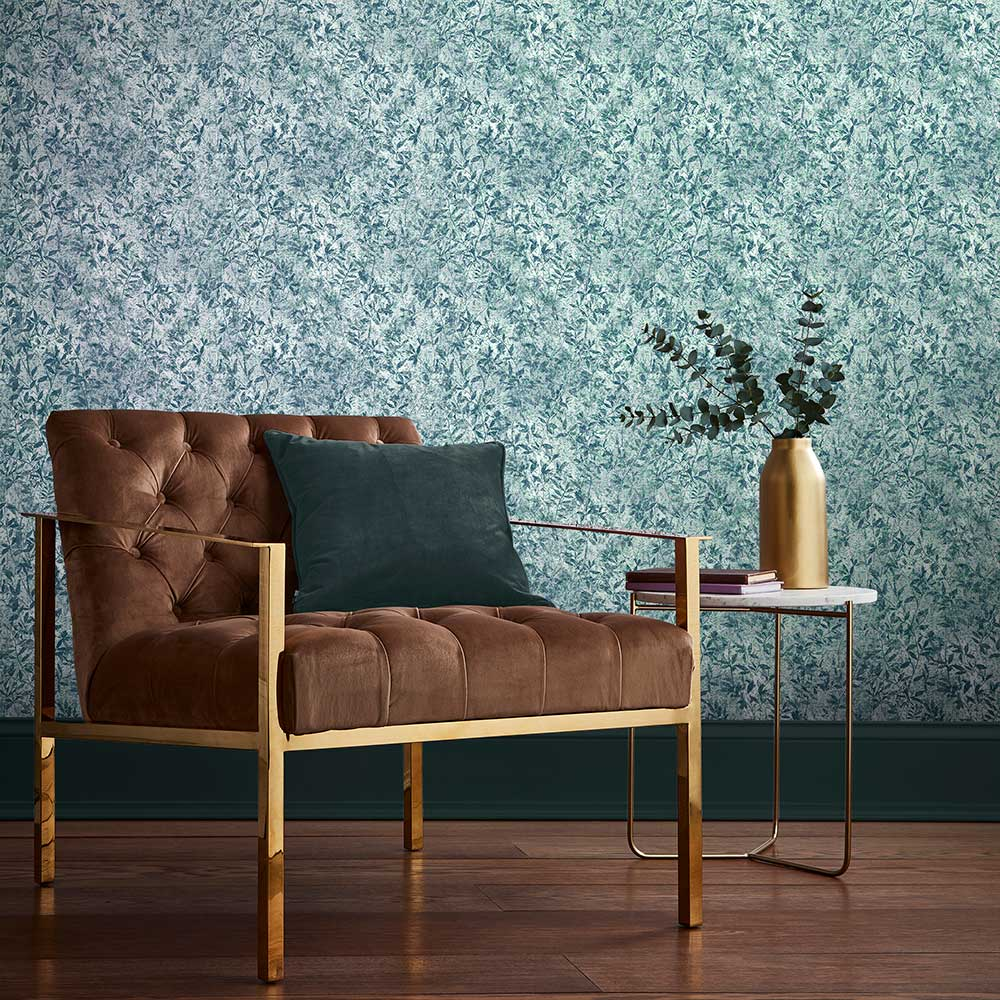Botany Wallpaper - Midnight Blue - by Graham & Brown