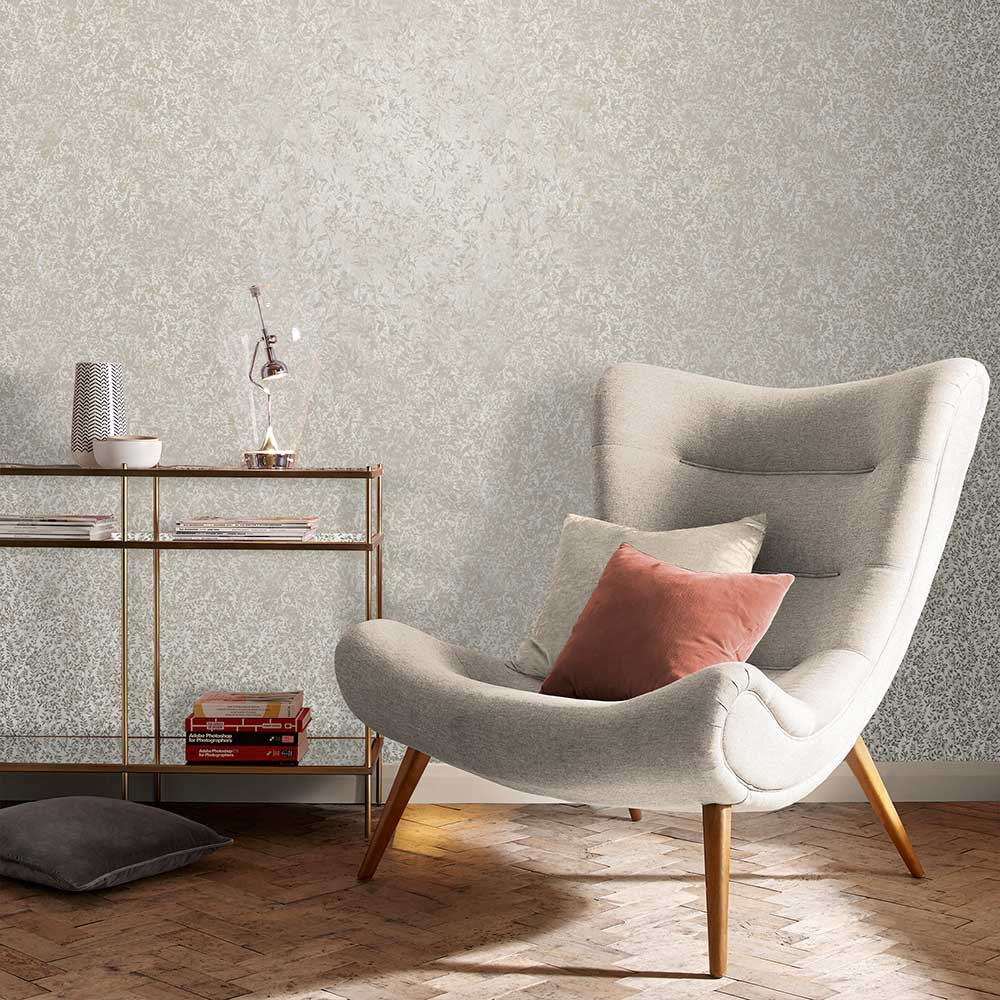 Botany Wallpaper - Soft Gold - by Graham & Brown