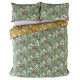 The Chateau by Angel Strawbridge The Chateau Blossom Duvet Set Basil/ Ochre Duvet Cover - Product code: BLS/BAO/DOUBS
