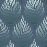 Graham & Brown Botanica Teal Wallpaper - Product code: 105452