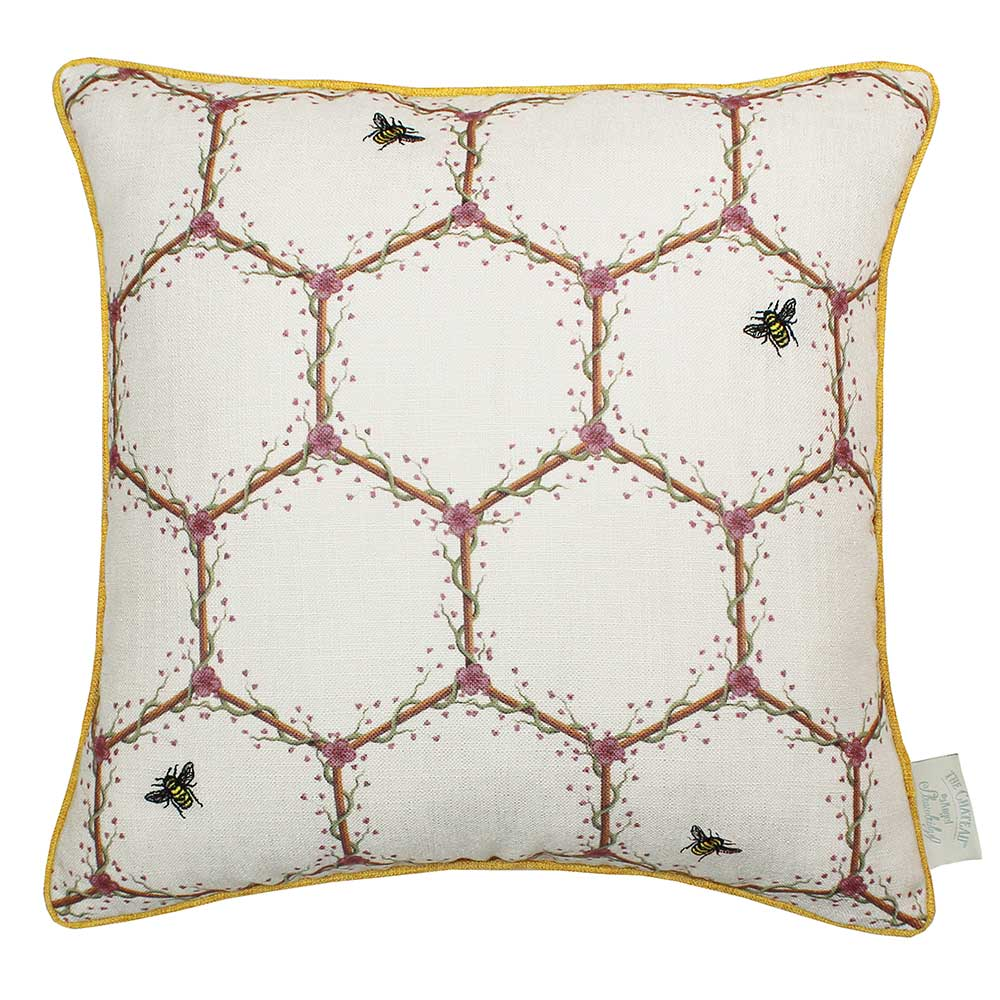 The Chateau Honeycomb Cushion - Cream - by The Chateau by Angel Strawbridge