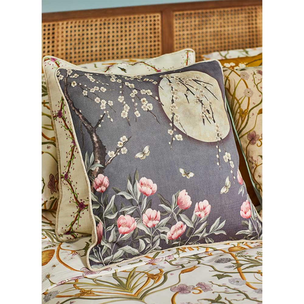 The Chateau Moonlight Cushion - Midnight Blue - by The Chateau by Angel Strawbridge