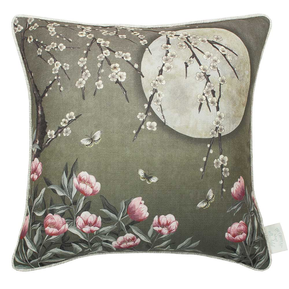 The Chateau by Angel Strawbridge The Chateau Moonlight Cushion Moss Green - Product code: MOO/MOS/04545CC