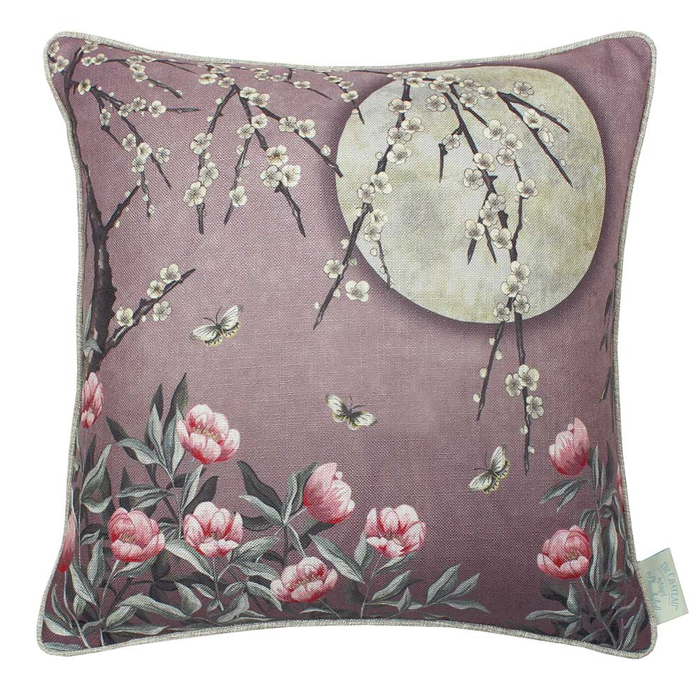 The Chateau Moonlight Cushion - Rose Dawn - by The Chateau by Angel Strawbridge