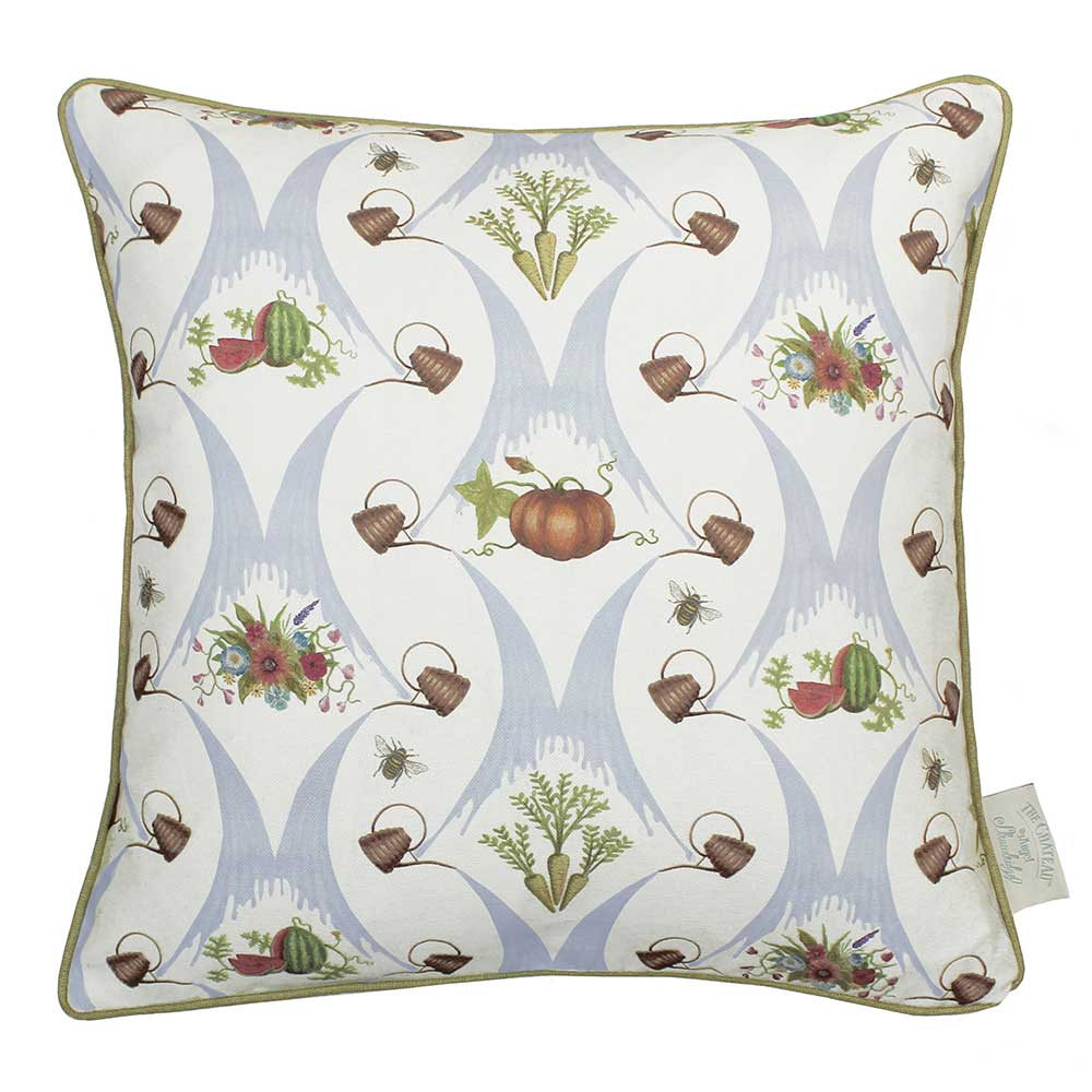 The Chateau by Angel Strawbridge The Chateau Watering Can Cushion Grey-blue - Product code: WCN/MUL/04343PI